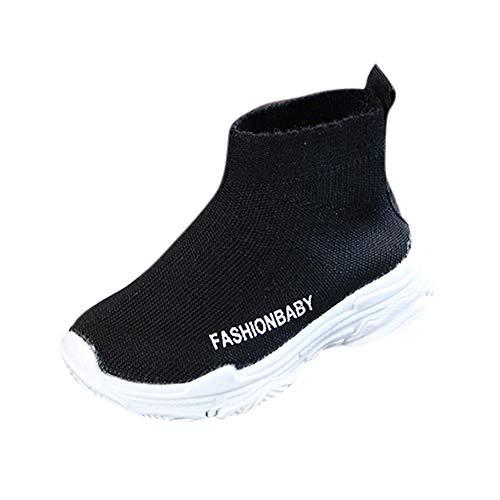 MAYOGO Kinder Sockenschuhe Hohe Spitzenschuhe Mesh Atmungsaktiv Sockeschuhe Turnschuhe Mode Hohe Hilfe Schuhe für Mädchen 21-30 Größe