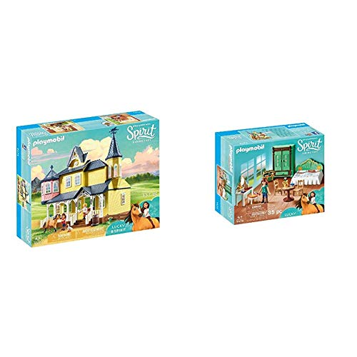 PLAYMOBIL DreamWorks Spirit Casa de Fortu, a Partir de 4 Años (9475) + DreamWorks Spirit Habitación de Fortu, a Partir de 4 Años (9476)
