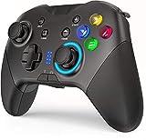 Mandos Inalámbricos para Nintendo Switch, Gamepad con Doble Vibración Controlador de Juegos de Computadora para PC con Windows 7/8/10, Android 4.0 UP / iOS
