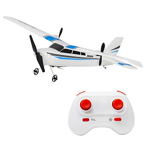 RC Plane 2.4Ghz 2 Channel RC Airplane Ready to Fly, RC Aircraft Builted in 6-Axis Gyro, Remote Control Airplane for Kids Boys EPP Beginner Glider Wingspan 310mm