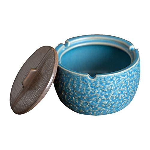 Cenicero De Cerámica Regalo para Amigos Extintor De Cigarros Decoración Decorativa para Sala Escritorio De Oficina (Color : Blue, Size : 10 * 10 * 6cm)