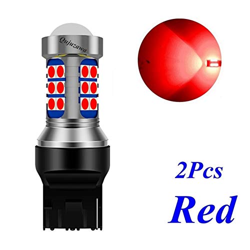 2 unids t20 7440 w21w wy21w súper brillante 3030 led de freno de la cola de la cola de la cola de giro Bulbos de la señal de la reverso AUTO Lámpara inversa Amarillo blanco ( Emitting Color : Red )