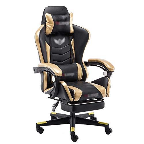 SPRINGHUA. Sedia da Lavoro Gaming Sedia da Ufficio scrivania Computer Sedia ergonomica Executive Conference Direttore Schienale Alto (Colore: Nero, Dimensione: 70X70X115CM)