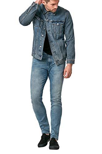 Mavi Men's Drake Denim Jacket, Mid Indigo Vintage, M