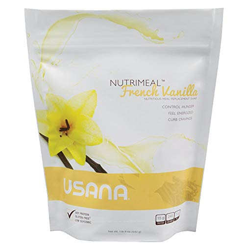 USANA ユサナ Nutrimeal ニュートリミール フレンチバニラ味 531g グルテンフリー