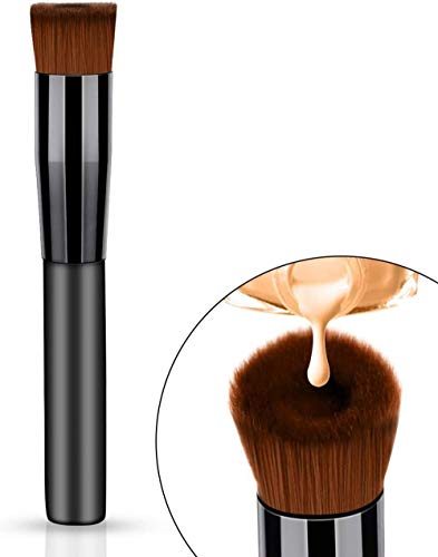 Liquid Foundation Cream Brush Perfect Concave Face Makeup Brush Professional Cosmetic Makeup Tool (2PCS)
