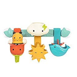 7 PIECES: One of the best bath toys out there, with 6 removable pieces for bath time fun. 2 SUCTION CUPS: Holds the bath bar tight on the bath wall. WATER & SAND: Splash around the bath or bring it outside in the pool or in the sandbox SQUEEZY BEE: T...