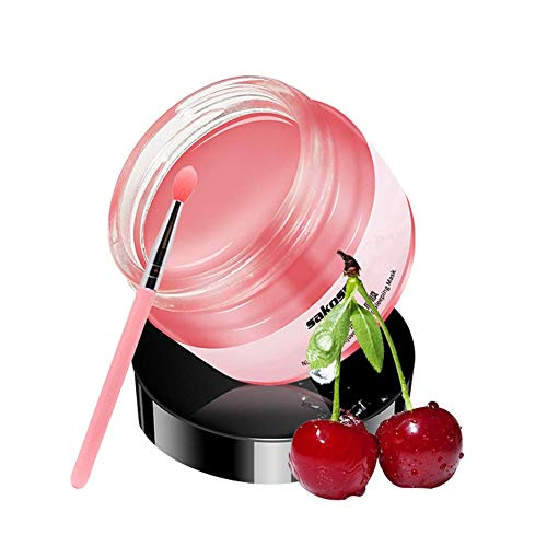 Moisturizing Sleeping Lip Mask Lip Film Balm Exfoliating Lip Scrub Lip Care Beauty Makeup Accessories,Best Solution For Chapped And Cracked Lips (Cherry)