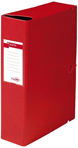 Sei Rota 67900812 Cartelle Porta Documenti e Progetti, Dorso 8 cm, Rosso