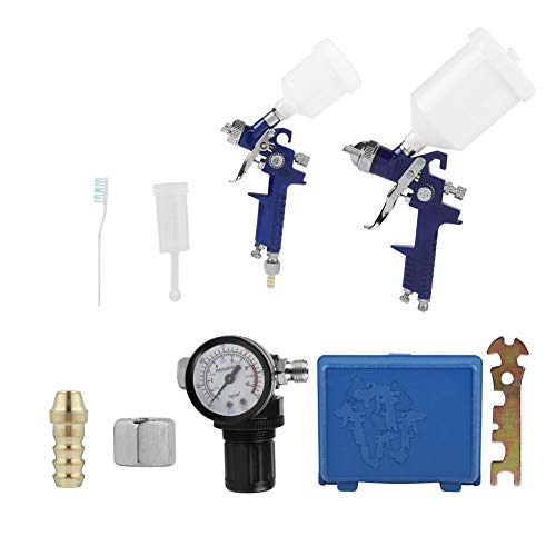Lackierpistole, 0,8 mm / 1,4 mm Düse Professionelle Lackierpistole, 600 ml / 125 ml Schwerkrafttyp Pneumatische Spritzpistole , für Autolackierung