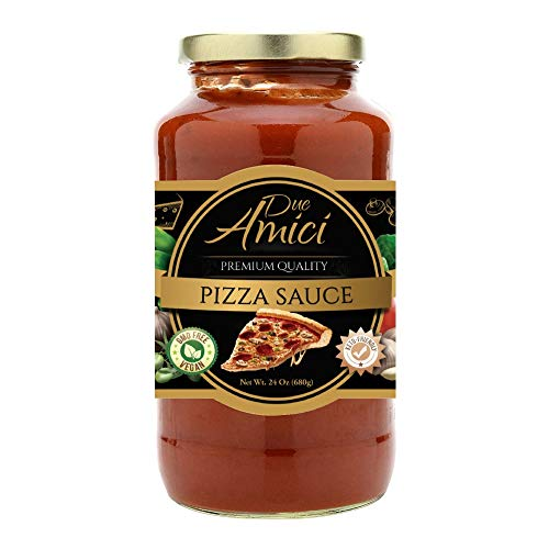 Pizza Sauce by Due Amici - Keto / Vegan - Pack of (1) - Tomatoes Imported From Italy, No Sugar Added, Low Carb, Low Sodium, Gluten Free, No Additives, Non-GMO.