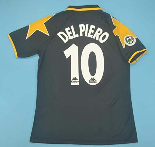 SU DEL Piero#10 Retro Trikot 1995-1996 Full Patch Black Color (L)