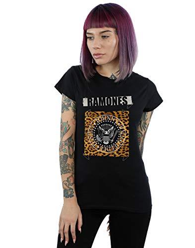 Absolute Cult Ramones Mujer Safety Pins Camiseta Negro Medium