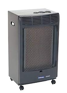 Campingaz Estufa de Gas CR 5000 Thermo Antracita, Estufa Portátil con Ruedas, Estufa Catalitica con Ignición Piezoeléctrica
