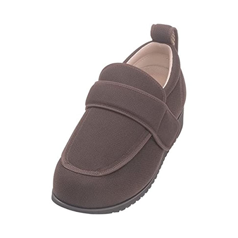 中絶低い極地介護靴 外出用 NEWケアフル 5E(ワイドサイズ) 7007 両足 徳武産業 あゆみシリーズ /5L (27.0~27.5cm) 茶 ds-1445483