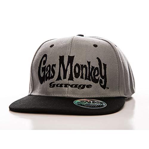 Gas Monkey Garage Officiellement sous Licence Logo Taille Ajustable Snapback Casquette (Noir/Gris)