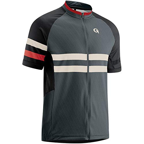 Gonso Boval Full-Zip Kurzarm Radshirt Herren Graphite Größe XXL 2020 Radtrikot kurzärmlig