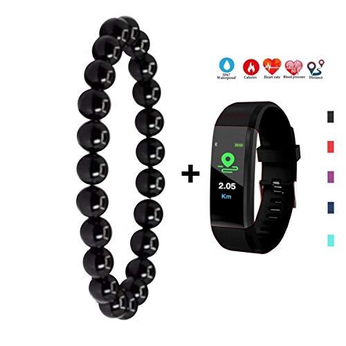 ARMONY PARIS Smartwatch Cardio Schrittzähler Schlaf, Schwarz, Réglable