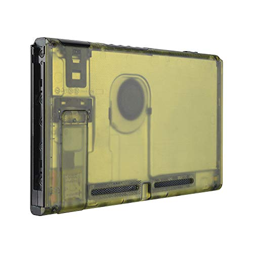 eXtremeRate Carcasa Trasera para Consola de Nintendo Switch Funda Case Shell de Bricolaje Cubierta de reemplazo con Soporte para Nintendo Switch No Incluye la Carcasa de Joy-con(Amarillo Ámbar)