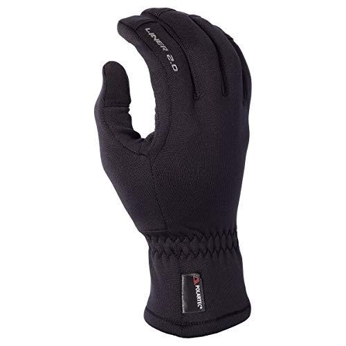 KLIM Glove Liner 2.0 For Ski/Snowmobile Gloves - Black/Large