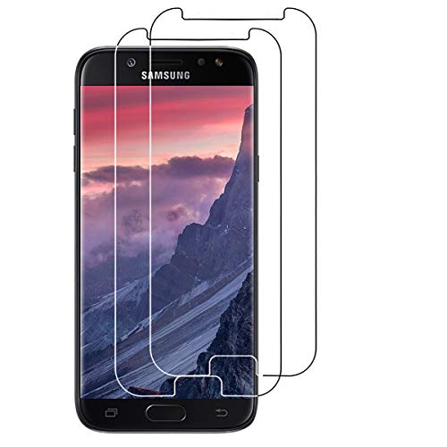 VICKSONGS Panzerglas Folie für Samsung Galaxy J5 2017 Duos, [2 Stück] Panzerglasfolie für Samsung Galaxy J5 2017 Hülle, 9H [Anti-Kratzen] [Anti-Fingerabdruck], Displayschutzfolie für J5 2017