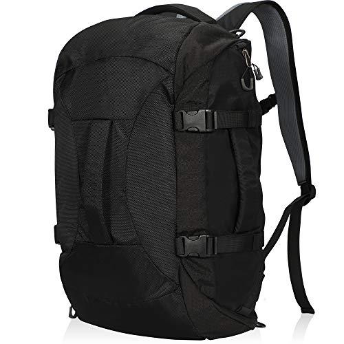 Hynes Eagle Travel Backpack 4 Way Duffel Backpack Water Repellent Gym Sports Bag for Women Men, Black