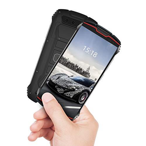 CUBOT Kingkong Mini Smartphone ohne Vertrag, 4G kleines Outdoor Handy, 4 Zoll Display, Wasserdicht Stoßfest, Dual SIM, 3GB+32GB, Android 9, Fcae-ID, GPS, 8MP/13MP Kamera, Rot+Schwarz