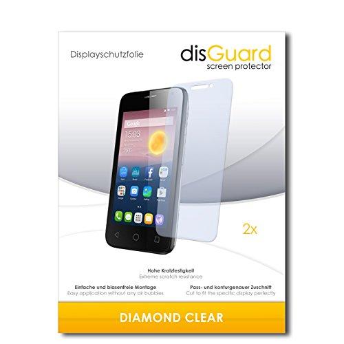 disGuard 2 x Bildschirmschutzfolie Alcatel Pixi First Schutzfolie Folie DiamondClear unsichtbar