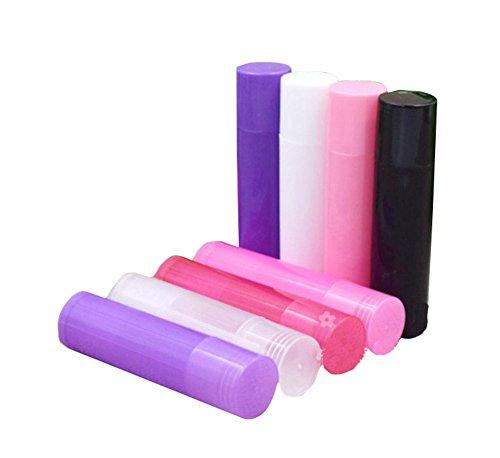 25 pcs/5gram assortis Couleur vide en plastique conteneurs de baume à lèvres Rouge à lèvres support avec caches