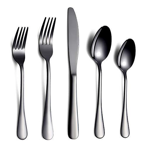 20piezas Cena Cuchillo Tenedor Cuchara Juego de cubiertos