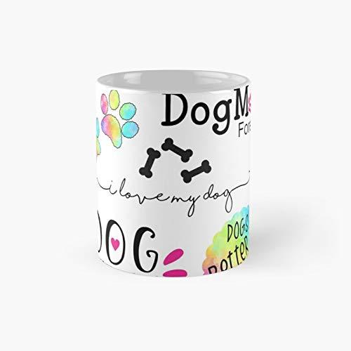Dog Mom Pack de 6 tazas clásicas | El mejor regalo divertidas tazas de café 11 oz