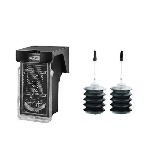 GYBN Refilling inkjet printer cartridge zwart kleur, voor HP 63XL inktcartridge, voor hp 2130 3630 3830 officejet 4520 4650 3632 F6U61A 2131 kan bijvullen, black, Kleur