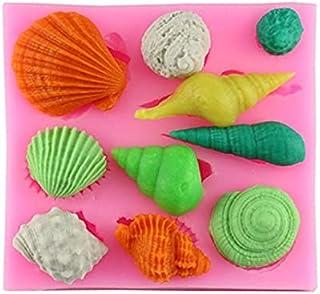S.Han Silicone Sea Shell Fondant Mould Gumpaste Mold Cake Decorating Tool Baking bakeware