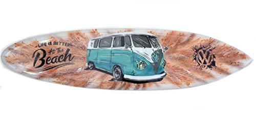 Interlifestyle Tabla de Surf 100cm Autobús Life Is Better At The Beach Decoración para Colgar Lounge Estilo