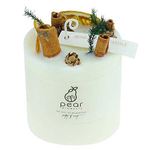 PEAR PRODUCTS LTD Luxury scented candle gift set (Orange & cinnamon)