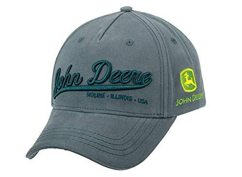 John Deere Basecap mit 3D Schriftzug Dunkelgrau - Anthrazit