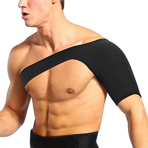 QWLHZW Schulterluxation Arthritis Schmerzlinderung Bandage Schulterstütze Strap Brace Warmhalte Verletzungen Schmerz Arm Sport-Schutz-Gürtel (Color : L)