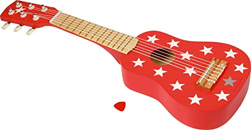 Play and Fun Spiegelburg Holz Kinder Gitarre rot mit Sternen 54cm