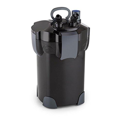 Waldbeck Clearflow - Aquarium Außenfilter, 2 x Schlauch von 1,6 m, Stufen-Filter, UVC-Klärer, für Aquarien bis 400 L Kapazität, 18 Watt Pumpenmotor