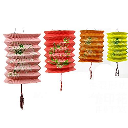 NYKK Lanterne 16 / 18CM Diametro Pacchetto di 12 Colore della Miscela di Capodanno Cinese Lanterne di Carta (Assortiti) Lanterne di Carta Cinesi (Dimensione : L)