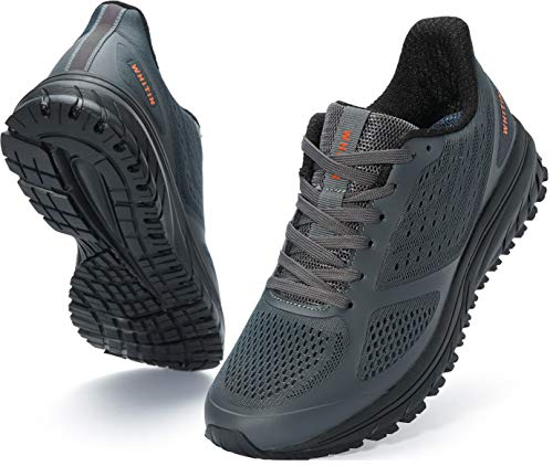 Joomra Mens Lightweight Running Tennis Shoes Arch Support Walking Fitness Size 12 Cushioned Footwear...