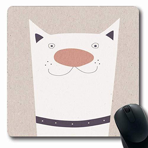 Jamron Mousepad OblongDog Zeichnung Naive Liebe Auf Kraft Design Lila Tier Papier Textur Retro Tiere Wildlife Smile Rutschfeste Gummimaus Pad B眉ro Computer Laptop Spiele Mat.-Nr.