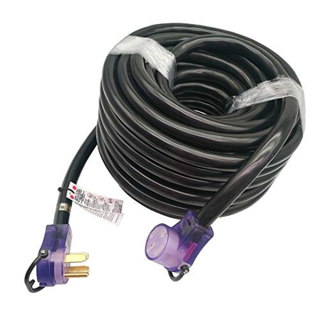 Parkworld 60110 RV 50amp Extension Cord 100FT NEMA 14-50, Plug and Receptacle with Lighted (100 Feet)
