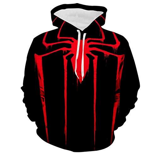 Womens Sp-idErm-an Long Sleeve Sweatshirt Warm Pullover Tops Pockets Hoodie