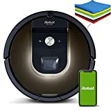 iRobot - Roomba 981 Wi-Fi Connected Mapping Robot Vacuum - Compatible with Alexa, Ideal for Pet Hair, Carpets, Hard Floors - Gray - iPuzzle 6 Colors Microfiber Cleaning Cloths