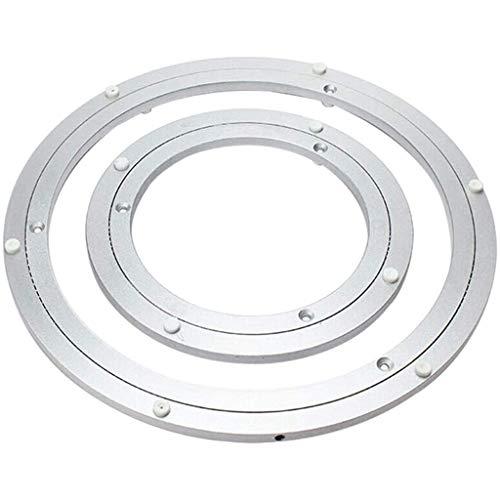 HXZ Cojinete de Giro Grande (aleación de Aluminio), Base giratoria Redonda Lazy Susan, Duradero/Resistente a la corrosión, Plateado Mate