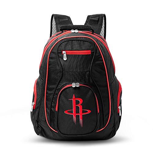 Fantastic Deal! NBA Houston Rockets Colored Trim Premium Laptop Backpack