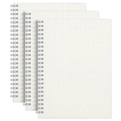 (3-Pack) A5 Dotted Spiral Notebook