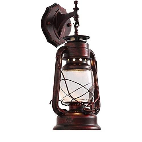 JYKFJ Aplique Retro al Aire Libre Farmhouse Loft W7 X H15 Loft Lámpara de Pared Antigua Lámpara de Pared Lámpara de Vidrio Soporte de Pantalla Luz