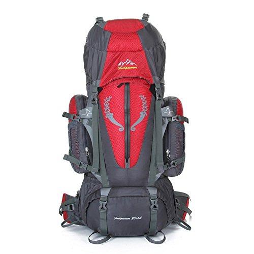 Backpack éclairage Grande contenance Sac à Dos d'alpinisme/Sports de Plein air Sac/Sacs/Sac à Dos de Camping 80l-Red 90L
